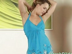 Pretty Blue Dress Babe Solo