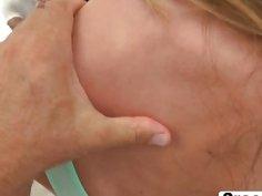 Slutty European brunette babe enjoys intense hardcore pussy banging