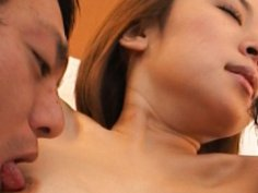 Curvy oriental teen gets fucked and jizzed on