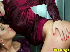 European pissing babes in a wam threesome